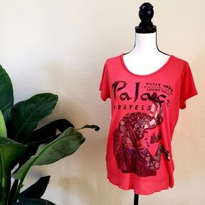 Women Lucky Brand Graphic Elephant Tshirt India